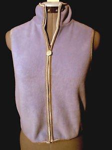 MY TWINN Fleece Vest juniors M Lilac Purple Full Zip up Mock neck Spring sporty