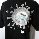 YOUNG LIFE T-shirt tee mens XL Black Gray splatter design Short sleeve Religious