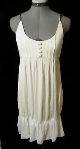 Nwt KATIA beaded Dress womens SML Ivory Swing 30's-40's Flapper girl Fancy gown