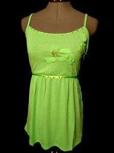 Nwt ROMINA Beaded Sequin Top women Plus 1X2X3X Mint Green floral Empire Tie back
