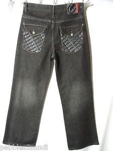 ECKO UNLTD. Jeans Boys 14 Black wash Whipstitched 30x27 Loose Urban Flap pocket
