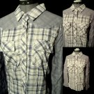TEXAS DONATION Nwt PLAID Western Shirt SML Blue Violet Pocket Blouse Cowgirl Top