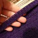 """CONSCO Purple Scroll Gimp Upholstery Curtian Fabric Trim 1/2"""" wide-sold x5 YARDS"""