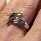 New WINGS of Life Wrap Ring 925 Silver Plated size 6 7 Fashion Jewelry Adjustabl