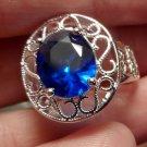 Nwt 925 SILVER Sapphire & Ruby (imitation) Rings 8 8.5 Eight cut Filigree design