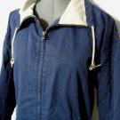 EDDIE BAUER Windbreaker Jacket M Navy Blue winter Outdoor Sport coat Zip Hiking