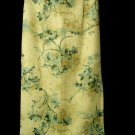 BENTLEY Linen Blend Skirt 6 Khaki Beige Blue Floral maxi Peasant straight Pencil