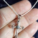 "New CROSS Charm Pendant & 22"" Necklace 925 Silver Snake Chain Crucifix Religous"