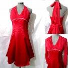 Nwt CINDERELLA Ball Gown Formal Dress XS Red Rhinestones Marilyn Monroe Prom