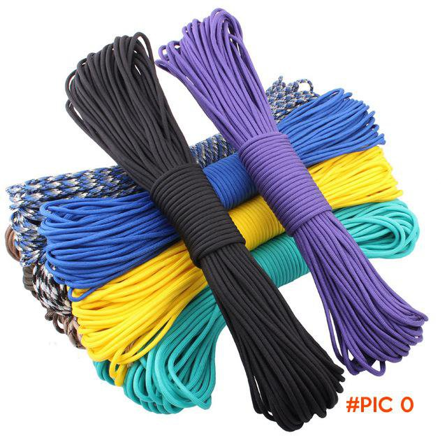 108 colors Paracord 550 Paracord Parachute Cord Lanyard Rope Mil Spec Type III 7Strand 100
