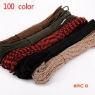100 colors Paracord 550 Paracord Parachute Cord Lanyard Rope Mil Spec Type III 7Strand 100