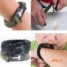 Camping Hiking Outdoor Survival Bracelet Kits Paracord 550 Cord Wristband Emergency Rope G