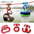 4pcs Camping Tent Rope Buckle Aluminum Tent Buckle Quick Hang Camping Wind Rope Hanging Bu