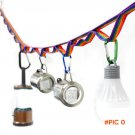 1 pc Multipurpose Colorful Tent Hang Lanyard Tent Rope Cord for Outdoor Camping Hiking spo