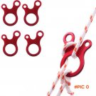 10pcs Quick Knot Tent Wind Rope Buckle 3 hole Antislip Camping Hiking Tightening Hook Wind
