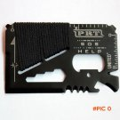 1pc Free Shipping 14 In 1 EDC Outdoor Sports Survival Knife Multi-function Tool Card Rope