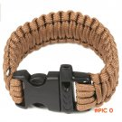 Durable Outdoor Camping Men Compass Whistle Parachute cord Bracelets Buckle Starter Surviv