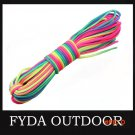 Outdoor camping 550 100ft  Rainbow Paracord Parachute Cord Lanyard Rope BC205