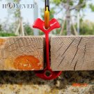 4pcs Lengthen Floor Nail Camp Wind Rope Tent Peg Path Deck Anchor Chains Linked Bone Nails