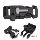 Multifunctional EDC Paracord Accessories Flint Whistle Cut Rope Knife Camping Fire Starter