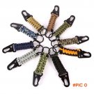 Nylon EDC Paracord Rope Keychain Camping Survival Kit Military Parachute Cord Emergency Kn