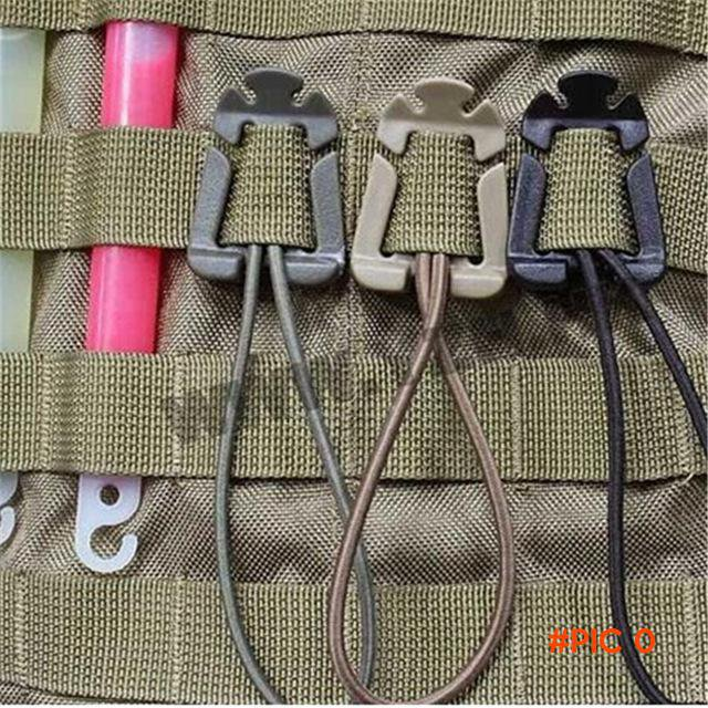 5Pc/Lot ITW MOLLE Military Nylon Webbing Tactical Buckle With Ribbon Elastic Rope For Outd