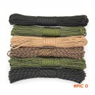 15M Military 550 Camouflage Paracord 7 Strand 4mm Parachute Cord for Camping Climbing EDC