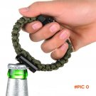 Outdoor Emergency Survival Bracelet Rope Camping Rescue Parachute Rope With Corkscrew Fire