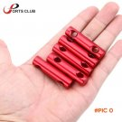 5Pcs/Set Red Rope Tensioners Outdoor Camping Travel Kits Aluminum Alloy Cord Guyline Runne