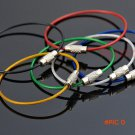 10pcs/lot Outdoor Camping color  EDC gear Multifunctional Wire Rope Key PVC  Ring Wire Cha