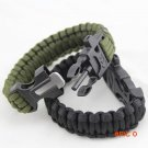 Outdoor Emergency Survival Escape Bracelet Rope Camping Rescue Parachute Rope With Fire St