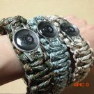 Skull Camouflage Military Fans' Paracord Bracelet Rope Survival Kit Camping/Climbing/H