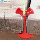 8pcs Floor Nail floor hook Fiestas fishbone Tent Peg Deck Wind Rope Anchor Chains Linked H