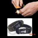 4 in 1 Flint Fire Starter Whistle,Outdoor Camping Survival Gear Buckle Travel Kit ,Paracor