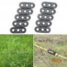 10Pcs Camping Tent Guy Rope Line Tensioners 3Holes Bent Runners Outdoor Awning BC747
