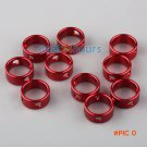 10pcs Red Ring Awning Caravan Tent Rope Cord Tensioners Guyline Runner Camping BC787