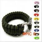 2 pcs Paracord 550 Bracelet travel kit Survival Bracelet 550 outdoor camping Equipment Res