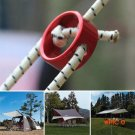 18*8mm Tent Wind Rope Round Regulating Buckle Camping Cord Tensioners Outdoor Canopy Adjus