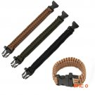 Outdoor Camping Men Compass Whistle Parachute cord Bracelets Buckle Starter Survival Buckl