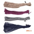 Paracord 550 Paracord Parachute Cord Lanyard Rope Mil Spec 7Strand with 2 EDC Carabiner Cl