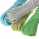 New 15m/50ft Reflective Parachute Cord Survival String 9 Core 550lb Luminous Glow Camping