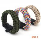 New Outdoor Camping Paracord Bracelet Rescue Parachute Cord Wristbands Emergency Rope Flin