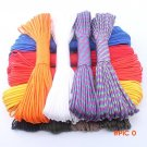 250 Colors 100Meters Paracord 550 Rope Type III 7 Stand Paracord Parachute Cord Outdoor Ca