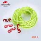 Naturehike 4 pcs Wind Rope Buckle With 12m Rope Outdoor Aluminum Alloy Wind Rope Stopper A