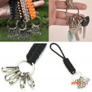 New 11 colors Outdoor Survival Keychain Parachute Cord Rope Knot Key Chain Ring Camp BC1071