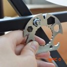 EDC Gear Multifunction Card Hex Wrench Can Bottle Opener Wire Stripper Rope Cutting Knife