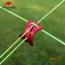Outdoor 6061 Aluminum Alloy Arcline Shape Slide Adjustment Rope Buckle Of Tent Red Sunshad
