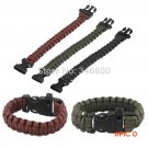 10pcs 2014 Paracord Parachute Cord Emergency Survival Bracelet Rope with Whistle Buckle Ou