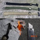 EDC GEAR Flint Fire Starter Outdoor Camping Survival Buckle Paracord Rescue Rope Escape Br