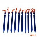 10Pcs Tent Stake 18cm Rope Nail Pegs Cnopy spike For Camping Traveling Hiking Trip Outdoor